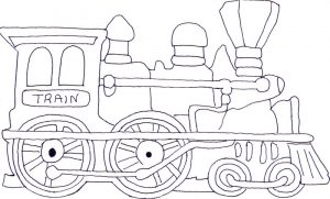 Train coloring pages for children