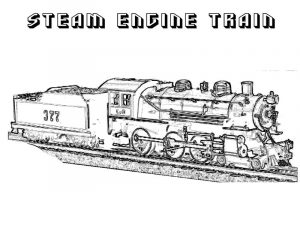 Train coloring pages for kids 1