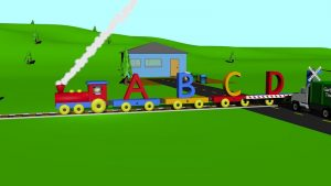 Train kids animation