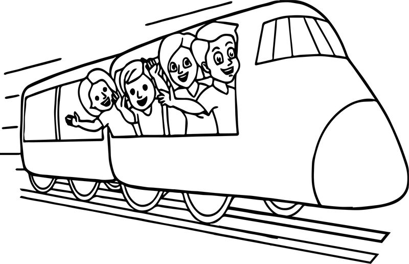 Train Metro Coloring Page