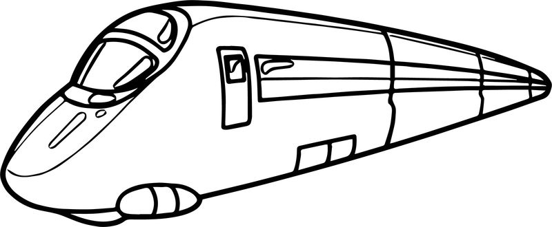 Train Tramway Coloring Page