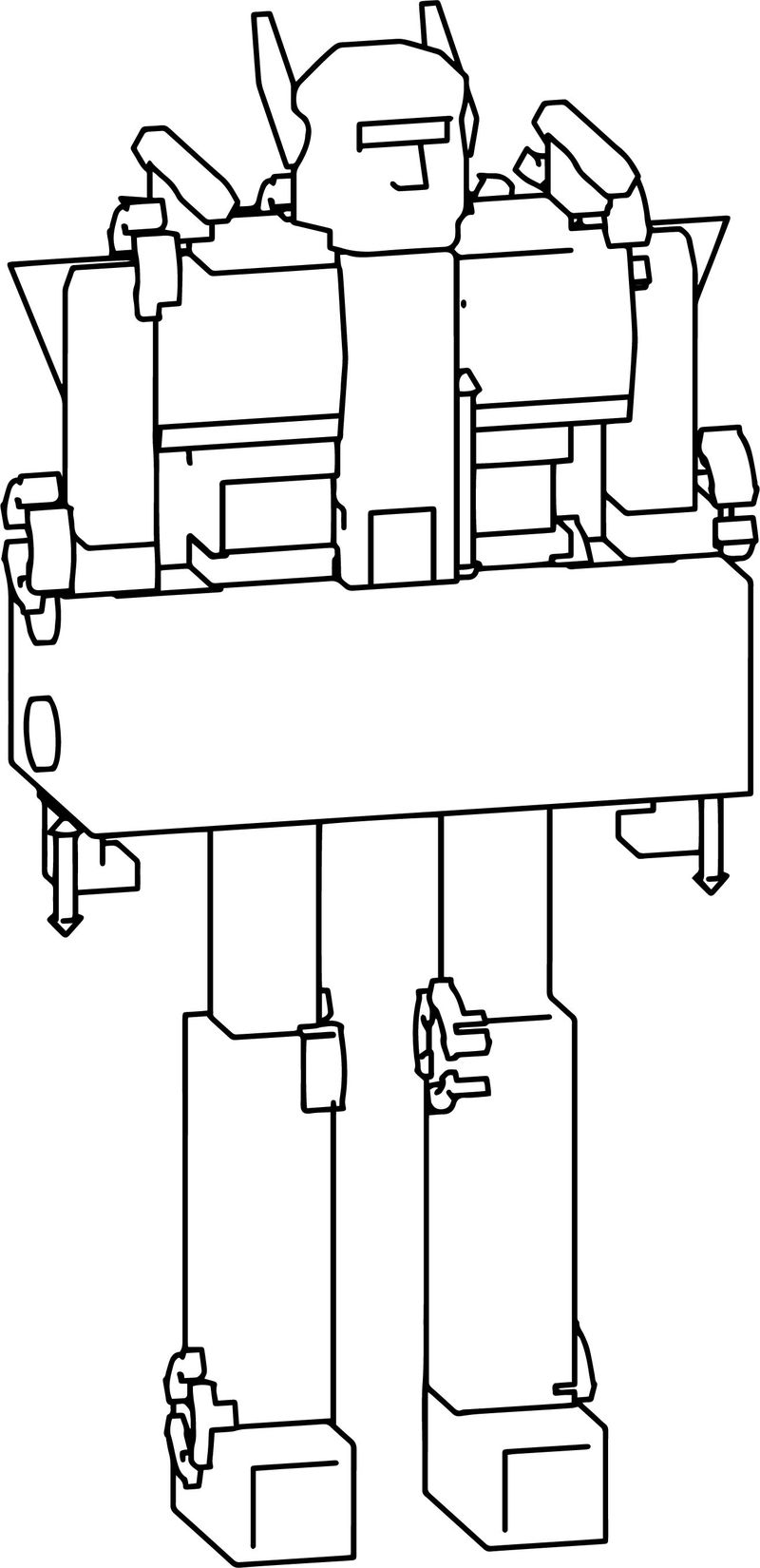 Transformer Mech Coloring Page