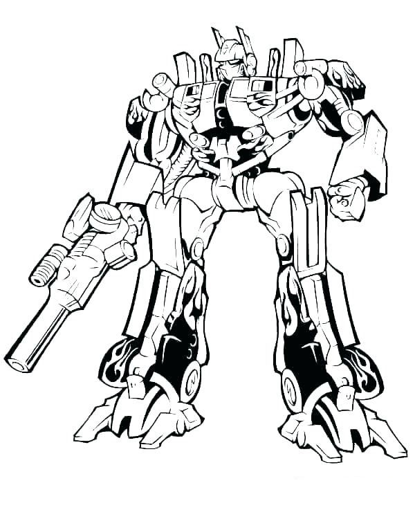 Transformers Coloring Page Optimus Prime