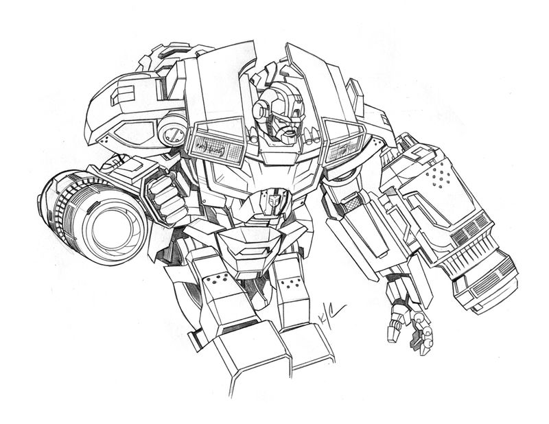 Transformers Coloring Page Printable