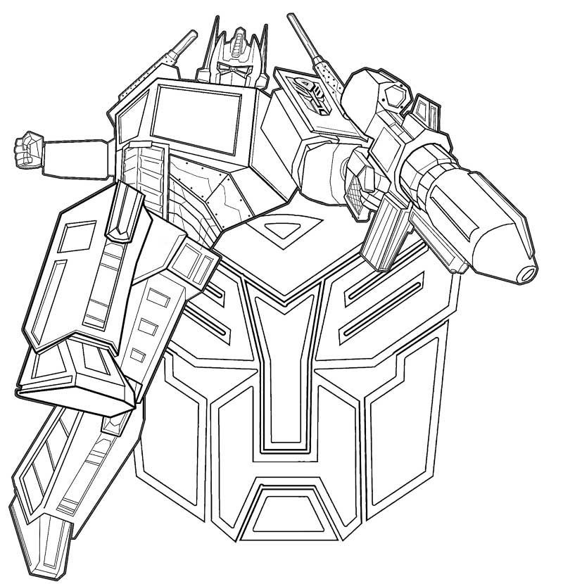 Transformers Coloring Pages Logo