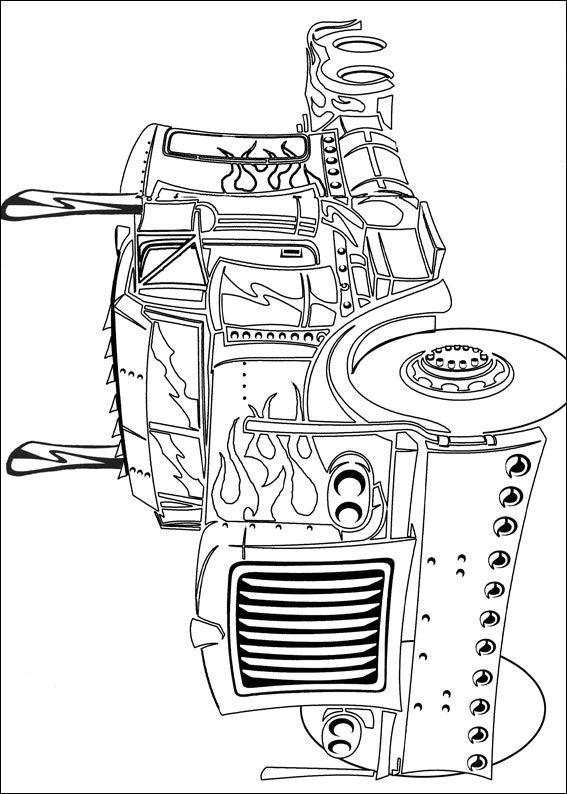 Transformers Coloring Pages Optimus Truck