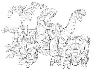 Transformers dinos coloring pages