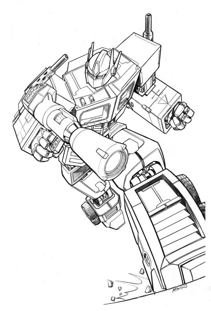 Transformers Optimus Prime Coloring Pages1