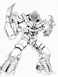 Transformers villian coloring page