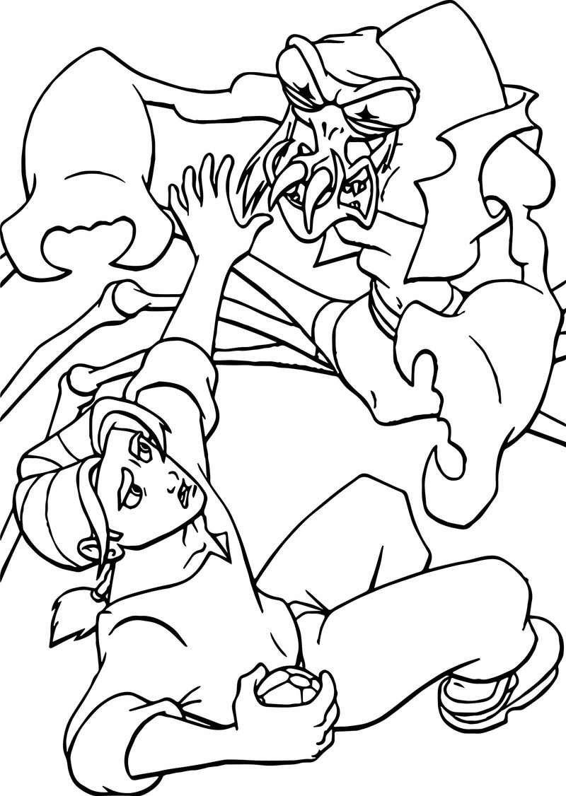 Treasure Planet Ant Attack Coloring Pages