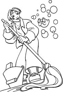 Treasure planet cleaning coloring pages