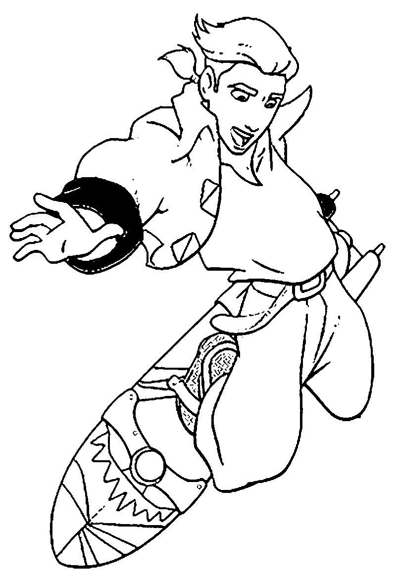 Treasure Planet Tr 22 Coloring Pages