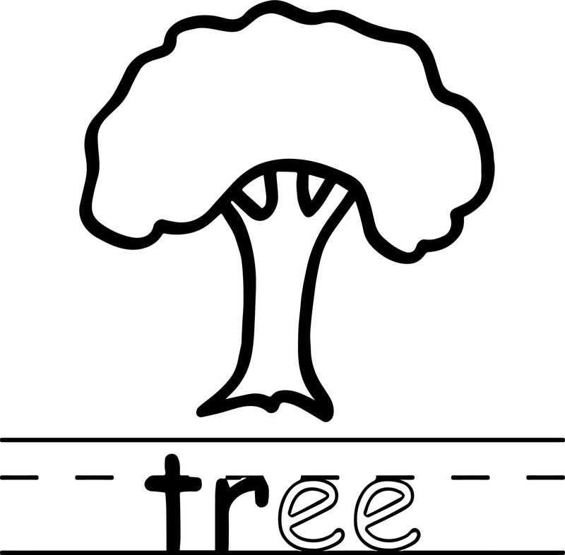 Tree Abc Teach Coloring Page