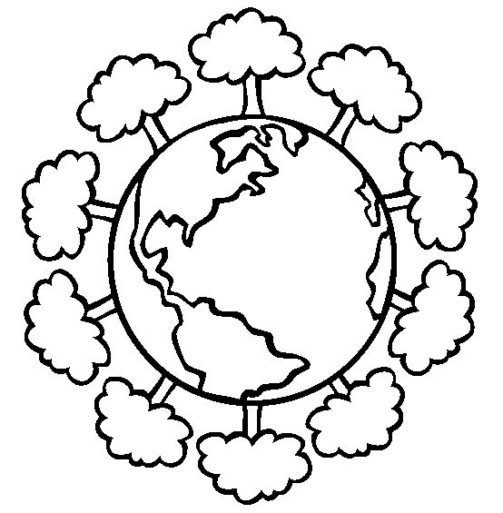 Trees Earth Day Coloring Pages