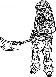 Tribal character coloring page