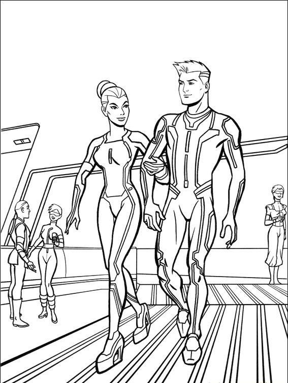 Tron Coloring Pages For Kids