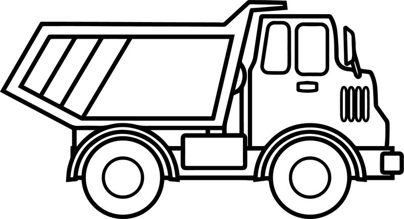 Truck Cartoon Funny Coloring Page