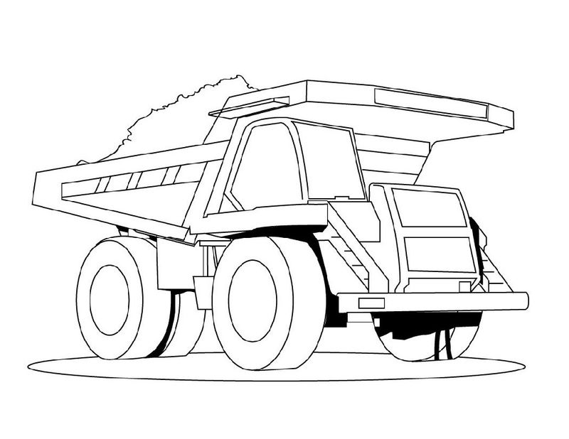 Truck Color Pages Dump Truck