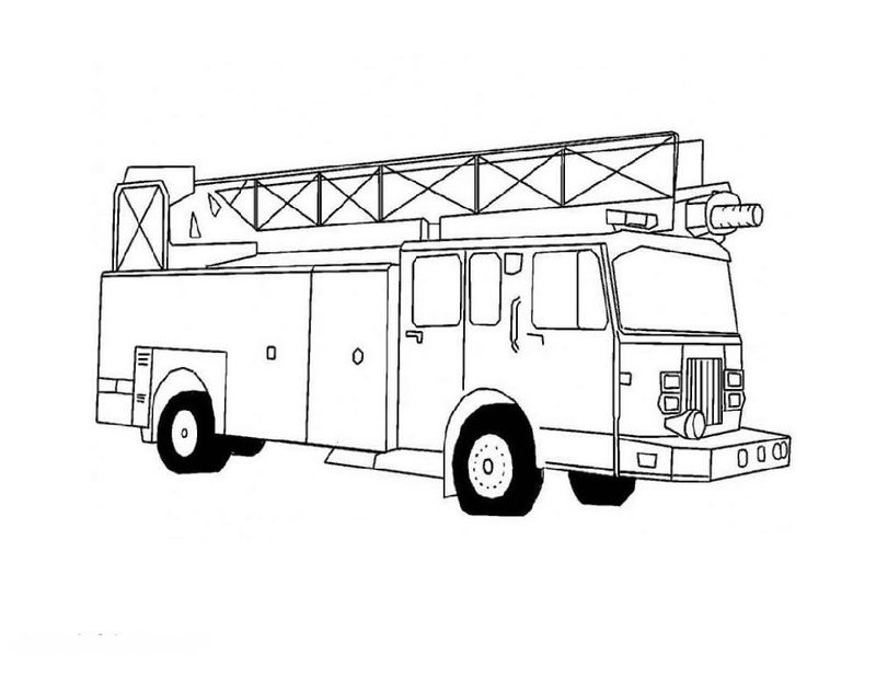 Truck Color Pages Firetruck