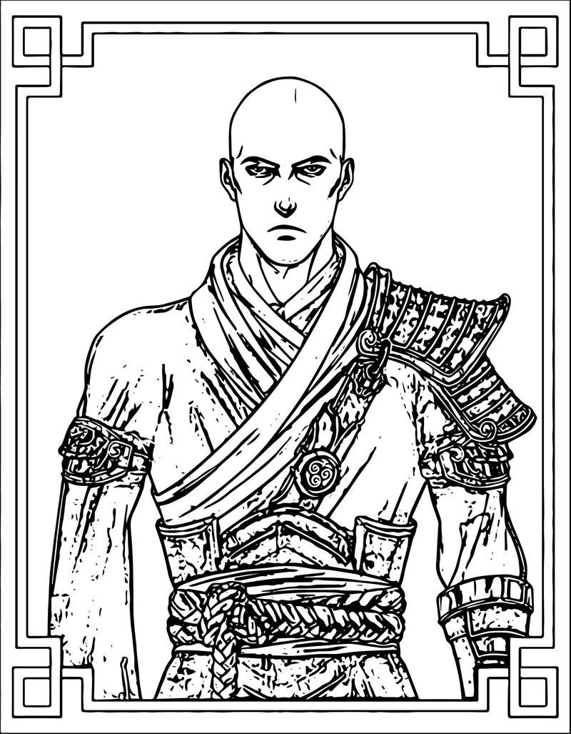 Tumblr Picture Avatar Aang Coloring Page