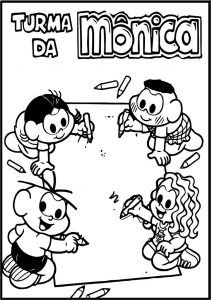 Turma da mc3b4nica kids picture time coloring page