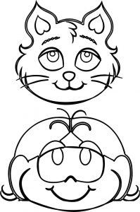 Turma da monica girl and cat coloring page
