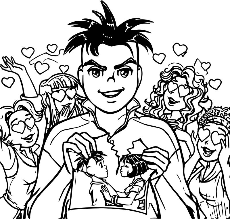Turma da monica jovem oscar love girls coloring page
