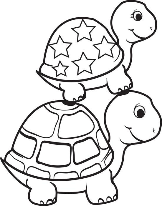 Turtle Coloring Pages Coloringbest3
