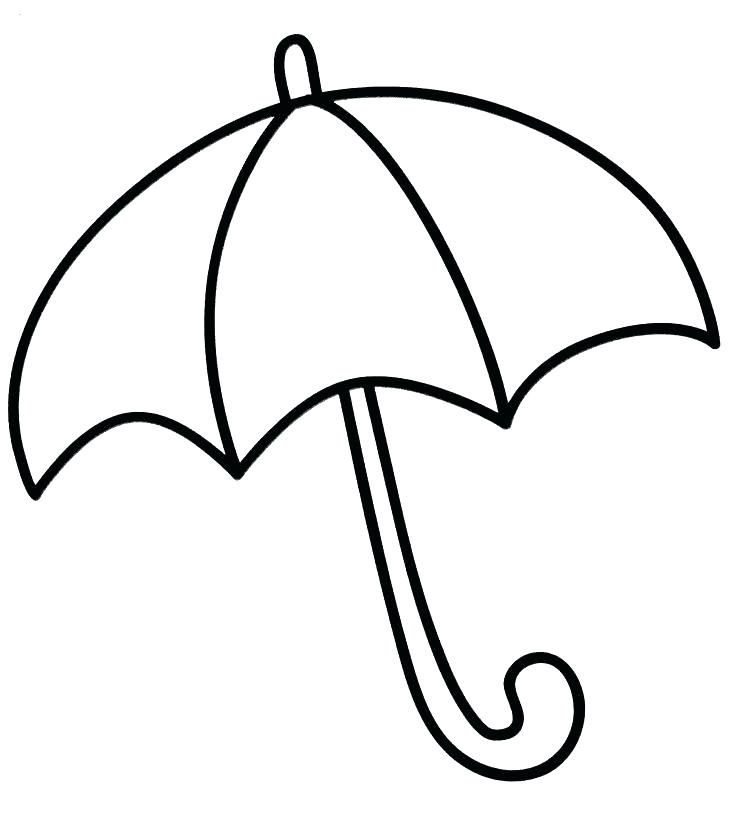Umbrella Coloring Page For Preschoolers