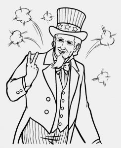 Uncle sam 4th july coloring book