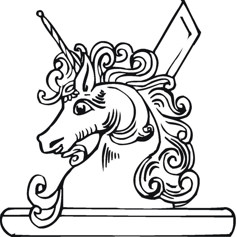 Unicorn Bust Statue Coloring Pages