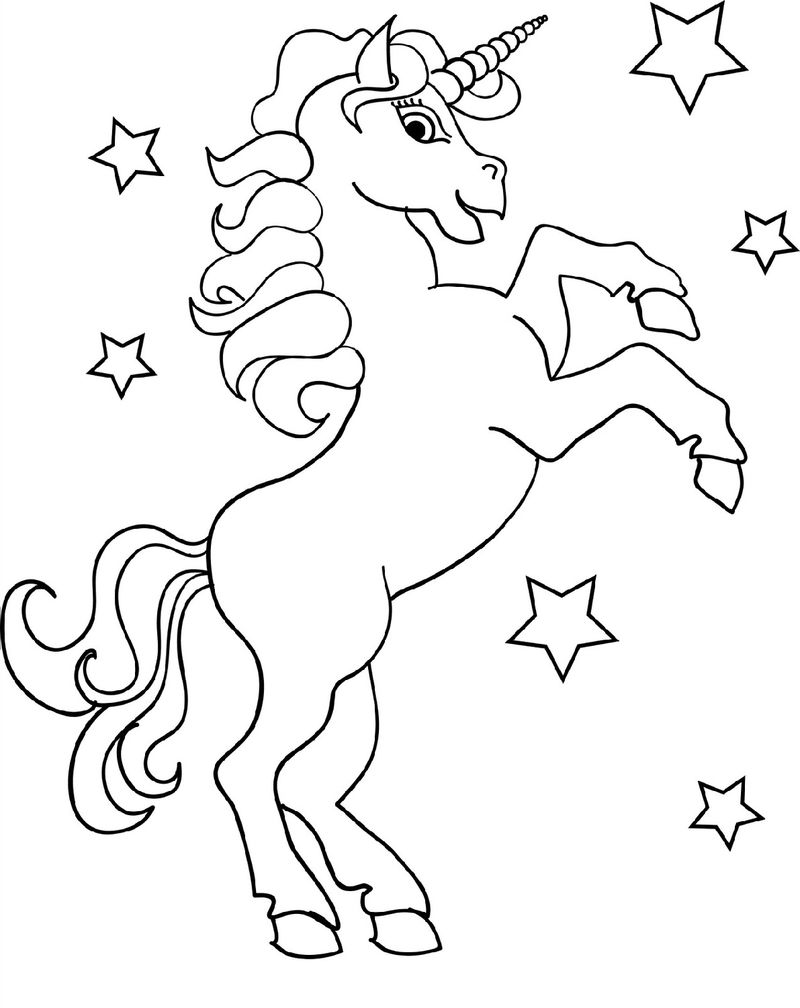Unicorn Color Pages Star