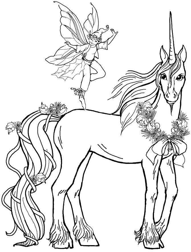Unicorn Coloring Pages 1