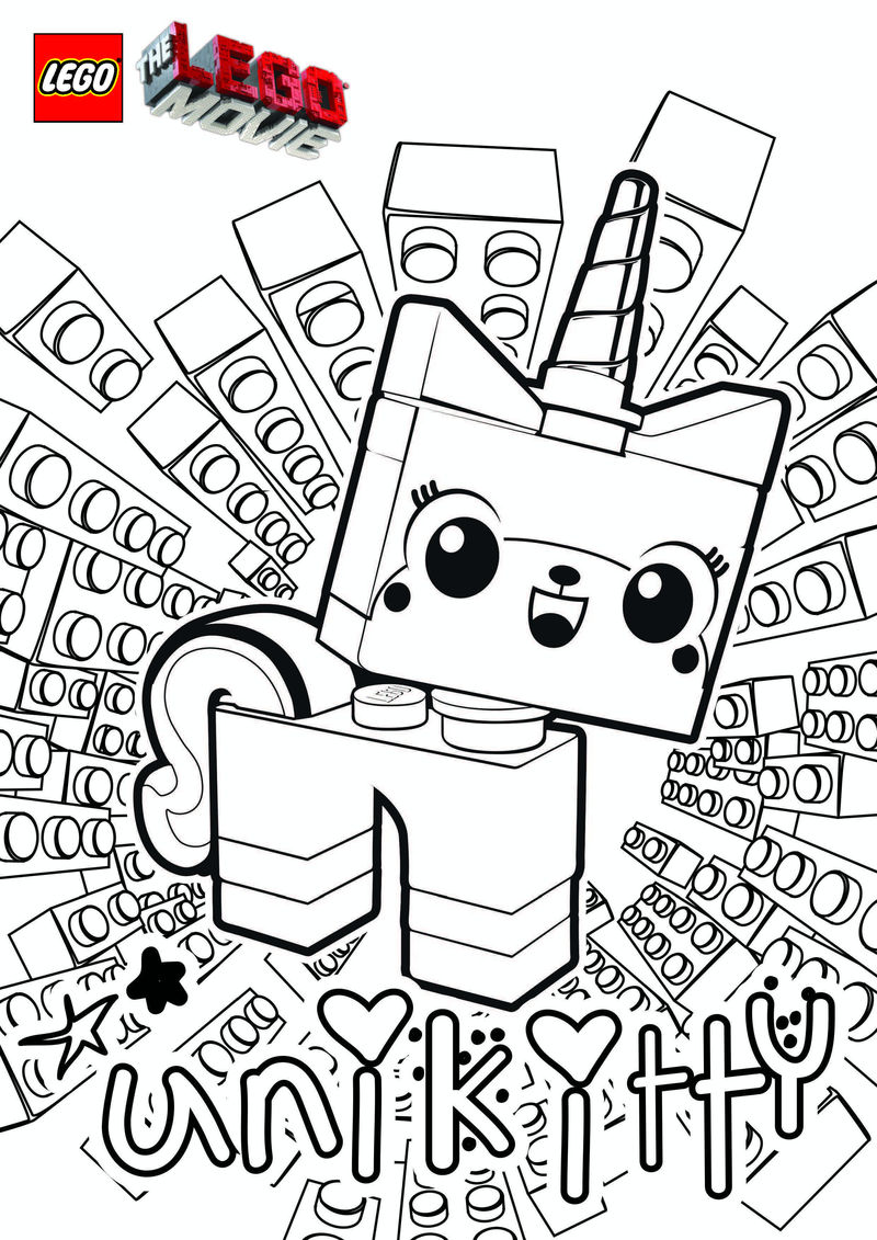 Unikitty Lego Coloring Pages 001