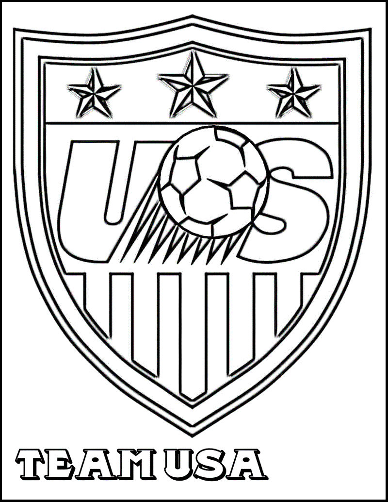 United States Soccer Federation Coloring Page