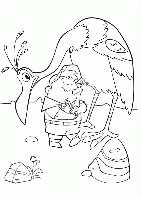 Up Coloring Pages Russell And Bird