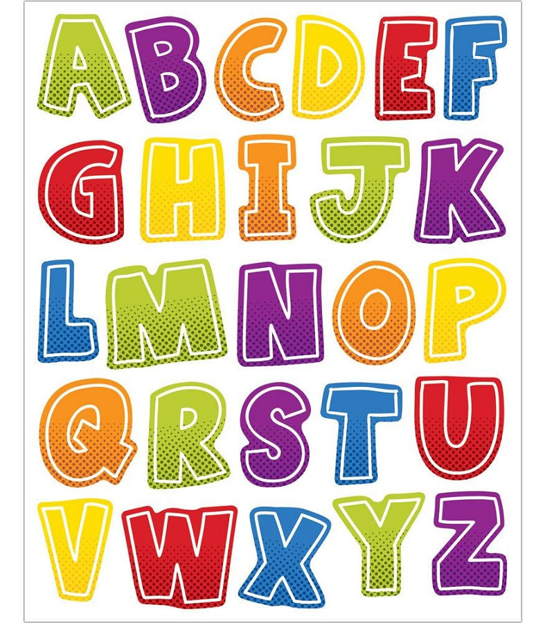 Uppercase Alphabet Letters Colorful