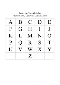 Uppercase alphabet letters simple