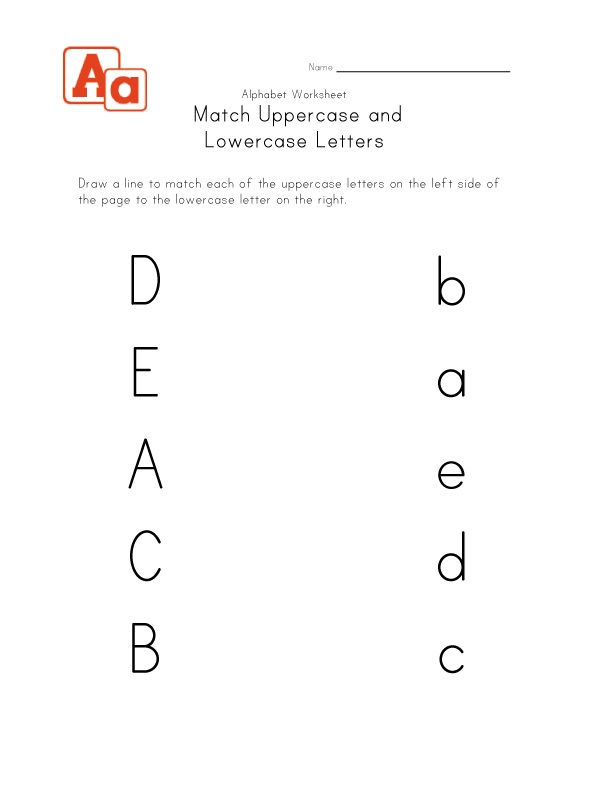 Uppercase And Lowercase Alphabet Match 001