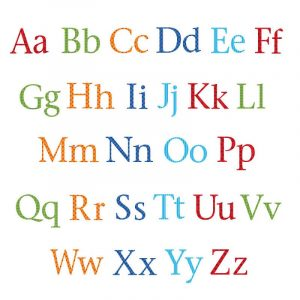 Uppercase and lowercase alphabet to print