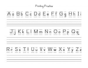 Uppercase and lowercase letters printable