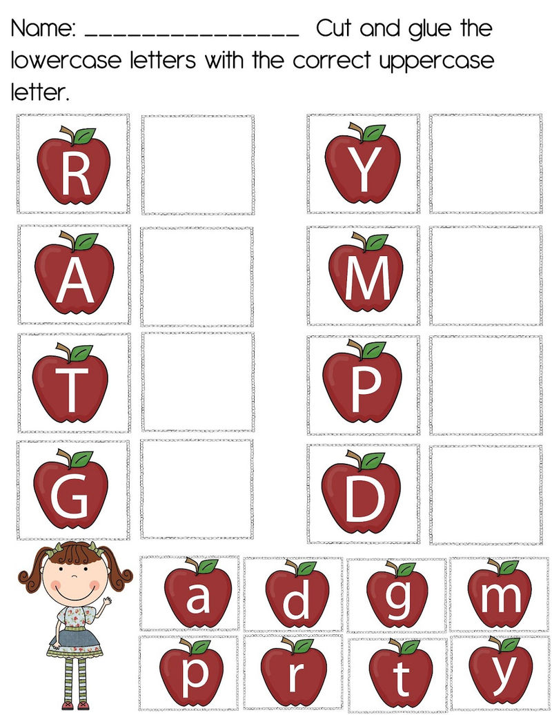 Uppercase And Lowercase Worksheets Apple