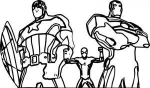 Usmcapiron avengers coloring page