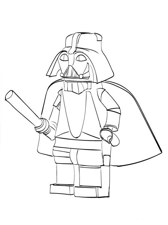 Vader Lego Star Wars Coloring Pages 001
