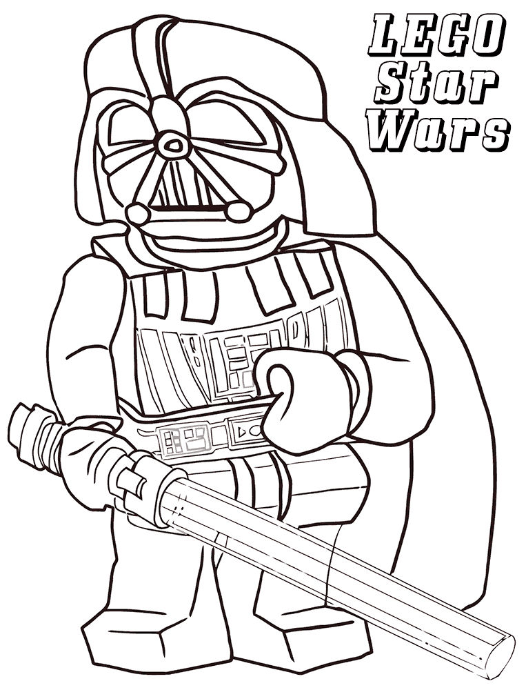 Vader Lego Star Wars Coloring Pages 001 1