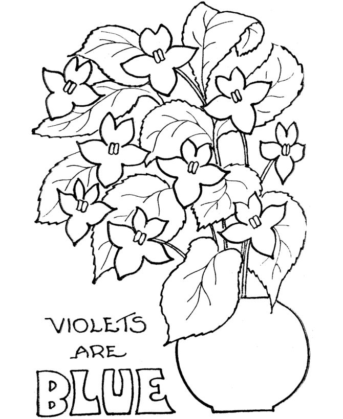 Valentine Coloring Pages Flowers