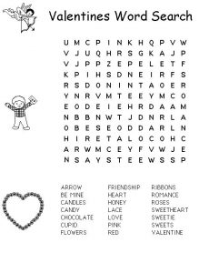 Valentine word search 2
