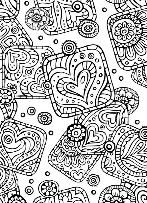 Valentines Day Design Coloring Pages For Adults