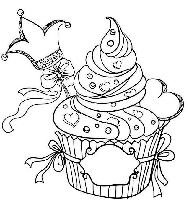 Valentines Day King Cupcakecoloring Pages For Adults