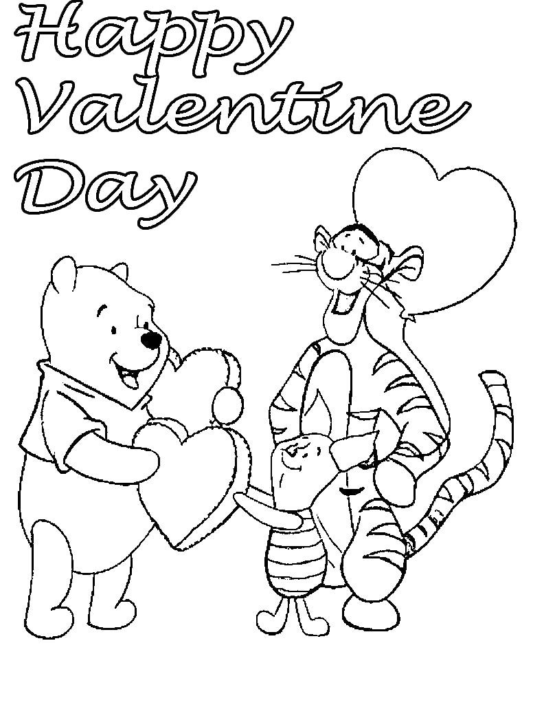 Valentines Disney Coloring Pages